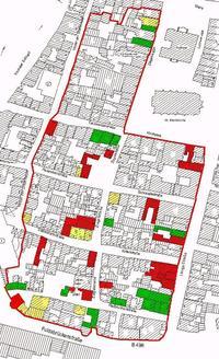 Lageplan der Städtischenbaumaßnahmen im Sanierungsgebiet Altstadt III